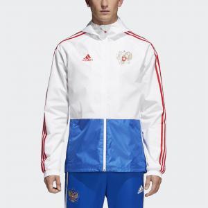 Куртка-дождевик Россия  Performance adidas. Цвет: красный