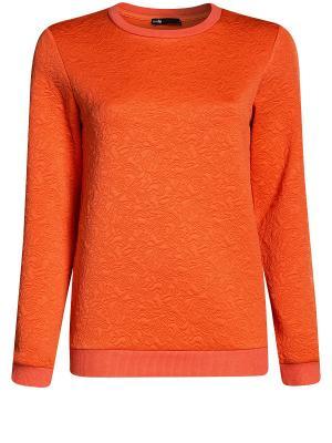 Свитшот Oodji. Цвет: оранжевый