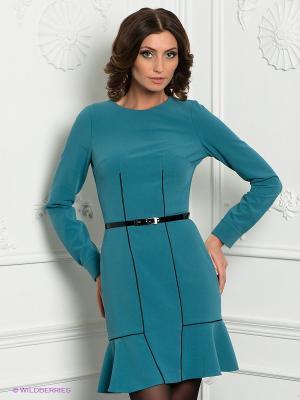 Платье Satin. Цвет: бирюзовый