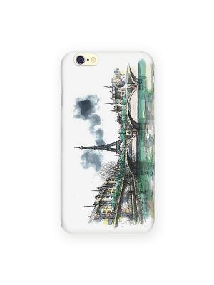 Чехол для IPhone 6 Париж в тумане Mitya Veselkov. Цвет: белый, зеленый