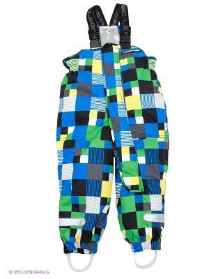 Полукомбинезон Lego wear. Цвет: синий, темно-серый, желтый, белый, зеленый, черный