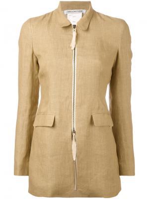 Приталенная куртка на молнии Cherevichkiotvichki. Цвет: телесный