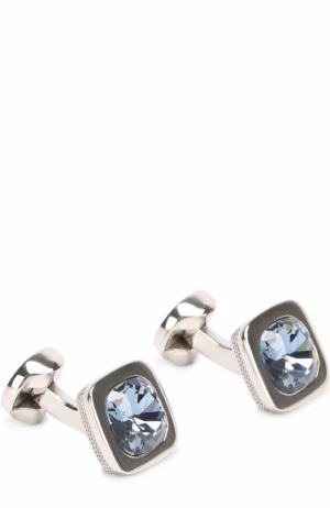 Запонки с кристаллами Swarovski Ermenegildo Zegna. Цвет: синий