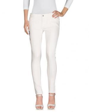 Джинсовые брюки LA ROSE. Цвет: белый