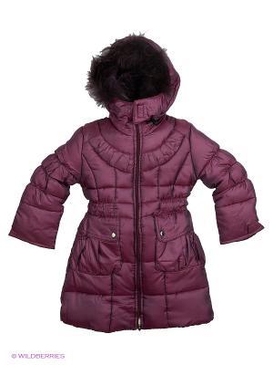 Пальто для девочки Пралеска. Цвет: фиолетовый
