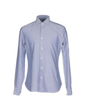Pубашка BARBA Napoli. Цвет: лазурный