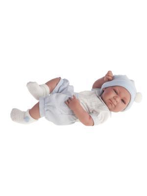 Кукла-младенец Оли (мальчик) в голубом,42см Antonio Juan. Цвет: светло-голубой
