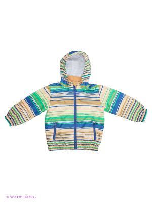 Ветровка Baby Club. Цвет: зеленый, бежевый, синий