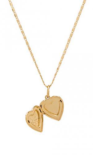 Ожерелье heart Vanessa Mooney. Цвет: металлический золотой