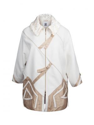 Пальто KR. Цвет: светло-бежевый, молочный