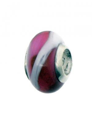 Шарм Агат дайвер Sun&Moon Charm. Цвет: розовый, серебристый