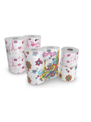 Набор из туалетной бумаги Kartika Collection Paris и Spring, 3-х сл, 8 рул/200 листов World Cart. Цвет: белый