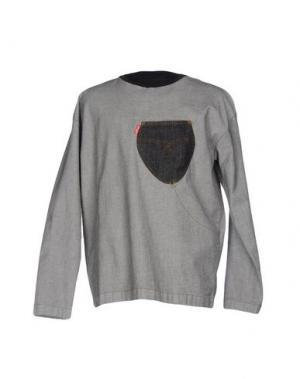 Джинсовая рубашка MALPH. Цвет: серый