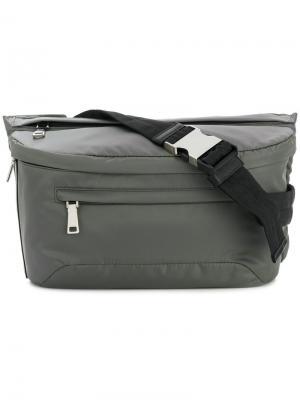 Поясная сумка на молнии Prada. Цвет: серый