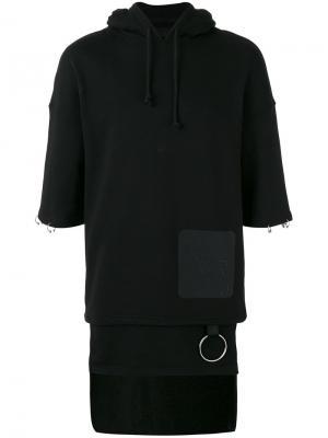 Layered short-sleeve hoodie D.Gnak. Цвет: чёрный
