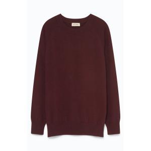 Пуловер из кашемира MAXIM AMERICAN VINTAGE. Цвет: бордовый,охра