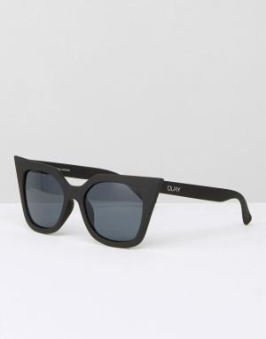 Quay Australia Солнцезащитные очки кошачий глаз Harper. Цвет: черный
