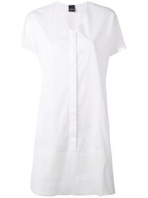 Платье-рубашка с V-образным вырезом Lorena Antoniazzi. Цвет: белый