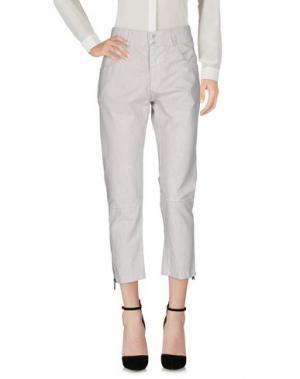 Повседневные брюки CROSSLEY. Цвет: светло-серый
