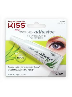 Kiss Клей с алое для накладных ресниц, Прозрачный Strip Lash Adhesive KPLGL05. Цвет: прозрачный
