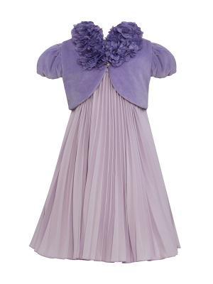 Комплект для девочек (платье, болеро) Perlitta. Цвет: лиловый