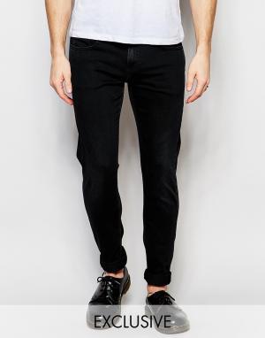 D.I.E Черные супероблегающие джинсы с эффектом поношенности .