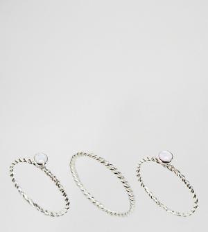Kingsley Ryan 3 серебряных кольца. Цвет: серебряный