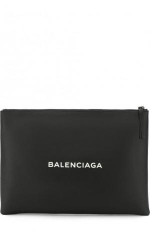Кожаный клатч Everyday Clip L Balenciaga. Цвет: черный