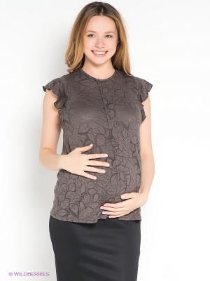 Блузка Hunny Mammy. Цвет: коричневый