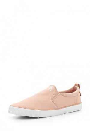 Слипоны Calvin Klein Jeans. Цвет: розовый