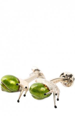 Запонки Deakin&Francis. Цвет: зеленый