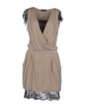 Короткое платье JO NO FUI. Цвет: голубиный серый