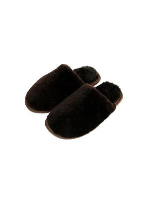 Туфли комнатные - тапочки Тефия. Цвет: темно-коричневый, коричневый, серо-коричневый