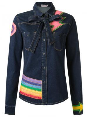Patchwork jacket Isabela Capeto. Цвет: синий