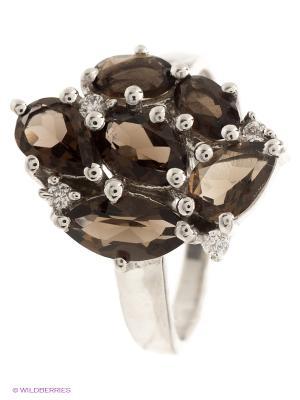 Кольцо BALEX. Цвет: серебристый, коричневый