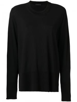 Пуловер свободного кроя The Row. Цвет: чёрный