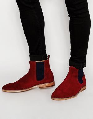 Bobbies Замшевые ботинки челси LHorloger. Цвет: красный