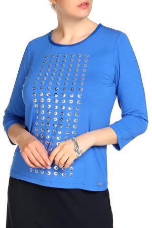 Блуза SARAH KERN. Цвет: синий