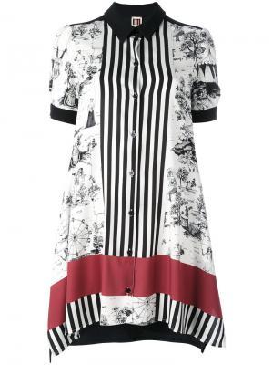 Рубашка с короткими рукавами и комбинированным принтом IM Isola Marras I'M. Цвет: многоцветный