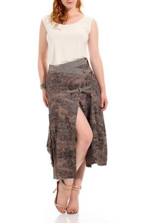 Платье GRAND POMMES. Цвет: коричневый