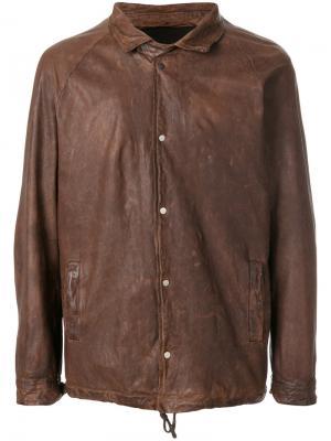 Куртка на кнопках Salvatore Santoro. Цвет: коричневый