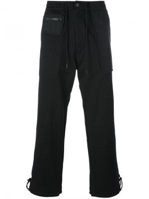 Укороченные брюки со шнуровкой Y-3. Цвет: чёрный