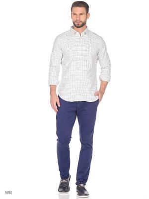 Рубашка MERCEDES-BENZ. Цвет: синий, белый, голубой
