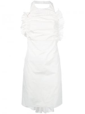 Платье с вырезом-халтер Anna K. Цвет: белый