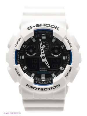 Часы G-SHOCK GA-100B-7A CASIO. Цвет: белый
