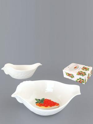 Салатник Красная икра Elan Gallery. Цвет: белый, зеленый, оранжевый