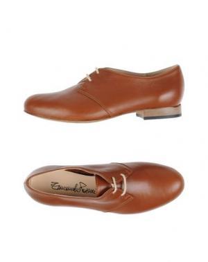 Обувь на шнурках EMANUELA PASSERI. Цвет: желто-коричневый