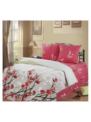 Постельное белье Romantic Collection. Цвет: малиновый, розовый, белый