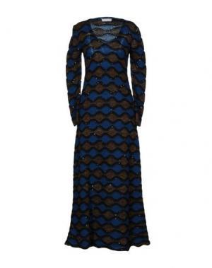 Длинное платье STEFANEL. Цвет: цвет морской волны