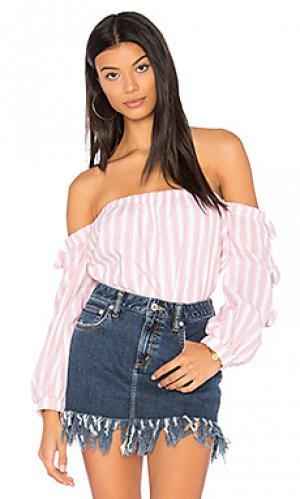 Топ со спущенными плечами bonnie VAVA by Joy Han. Цвет: розовый